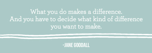 What you do makes a difference. And you have to decide what kind of difference you want to make.
