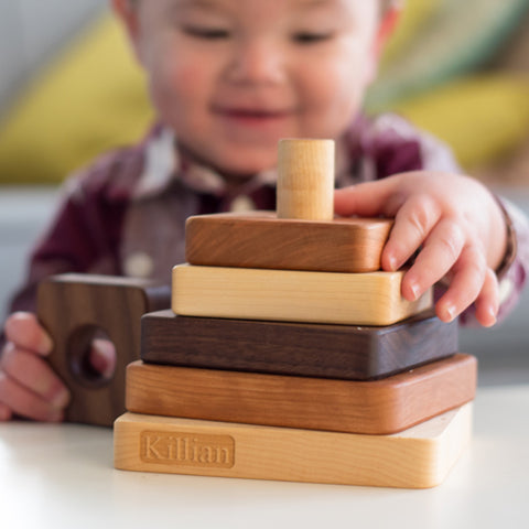 wooden stacking toy | wood toys for toddlers