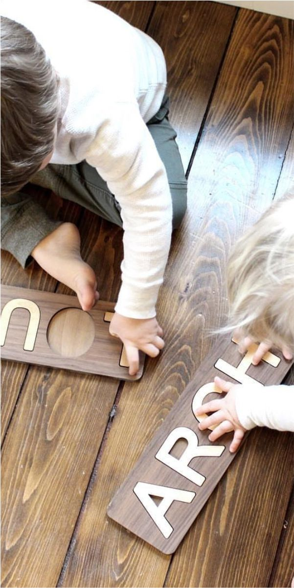 wooden name puzzles made in the USA