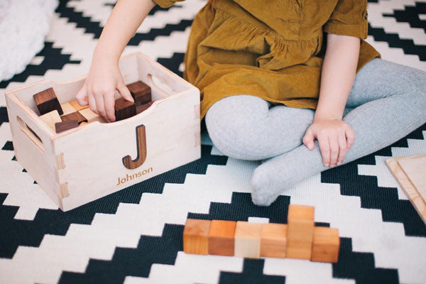 Personalized Wooden Toy Crate