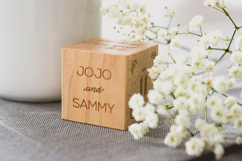 Keepsake Wedding Block