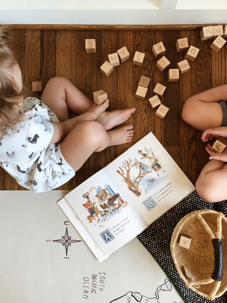 Animal Alphabet Blocks are the perfect companion to Adventures of Barefoot Critters