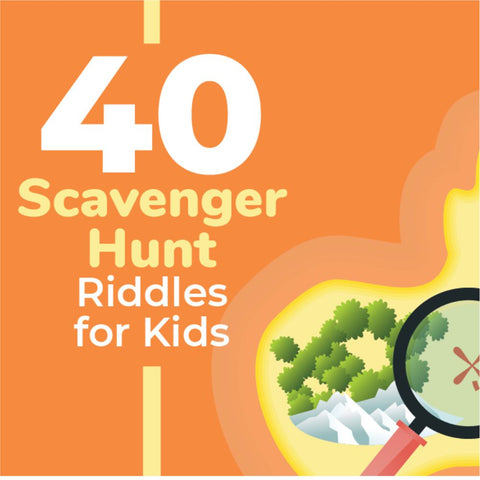 scavenger hunt riddles for keeping kids busy while working from home