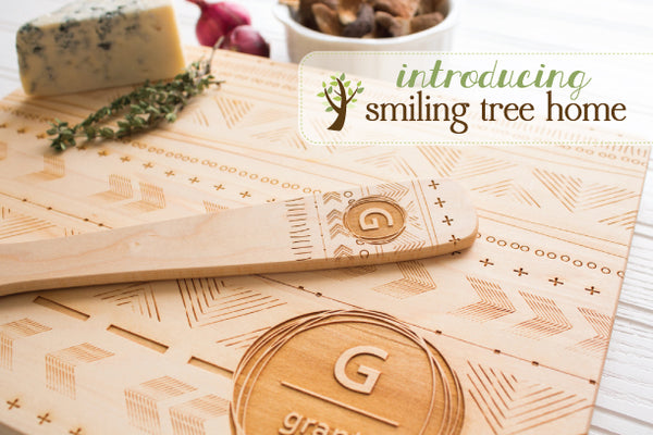 Introducing Smiling Tree HOME | Personalized Cutting Boards, Decor, Ornaments + More