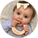 natural wooden toy teether for babies and toddlers