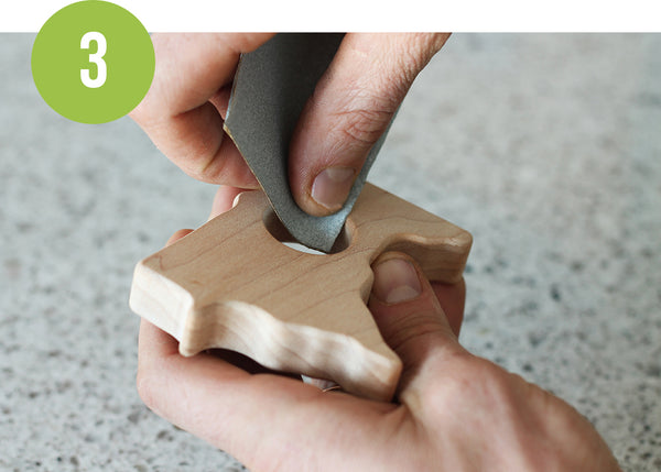 wood teether care