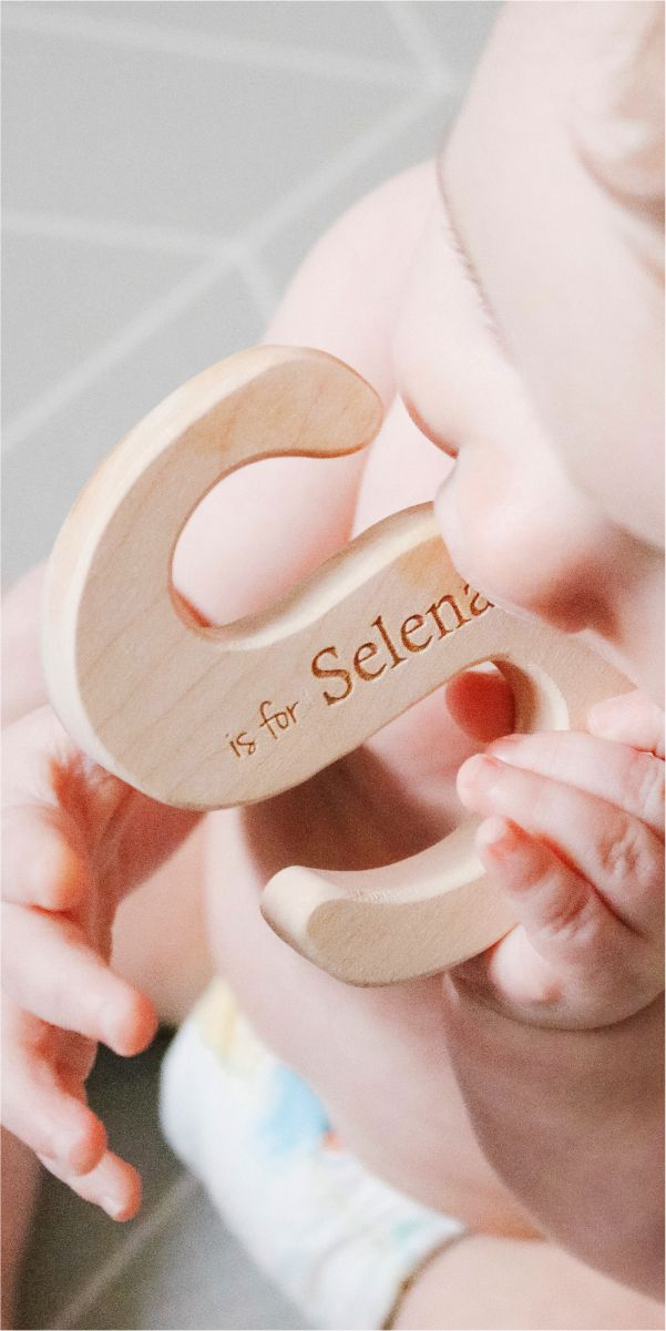 natural wood teether toys for babies