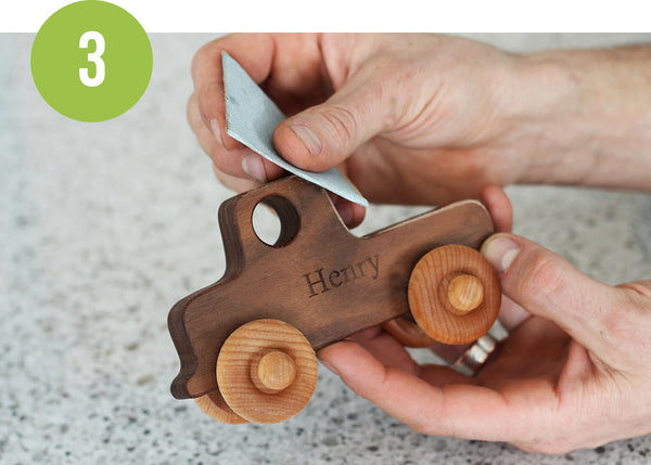 wood toy care