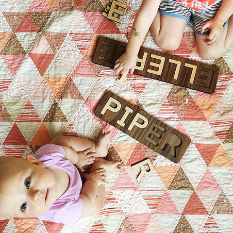 wooden name puzzle toy