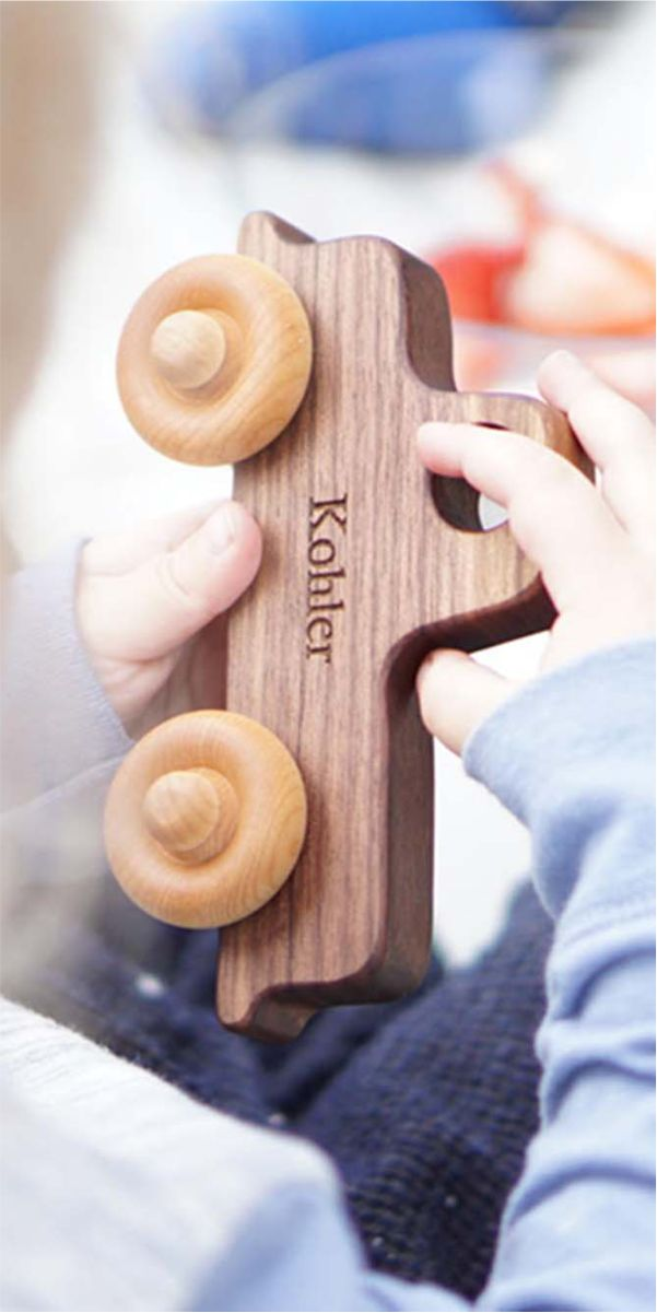 eco-friendly wooden toy truck for boys