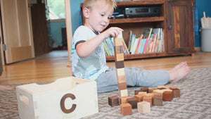 Number Blocks Set wooden block educational toys