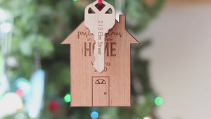 Personalized wooden Christmas ornament gift ideas for baby newlyweds teachers adults handmade in USA