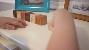 Wooden Name Blocks ABC Alphabet personalized