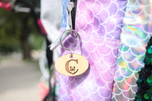 personalized child zipper pull charm