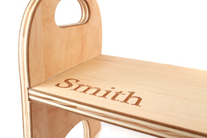 personalized child's wooden step stool