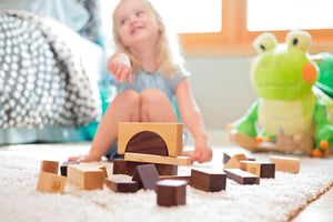 natural wooden hardwood blocks by Smiling Tree Toys