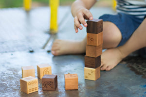 Smiling Tree Toys wood number blocks