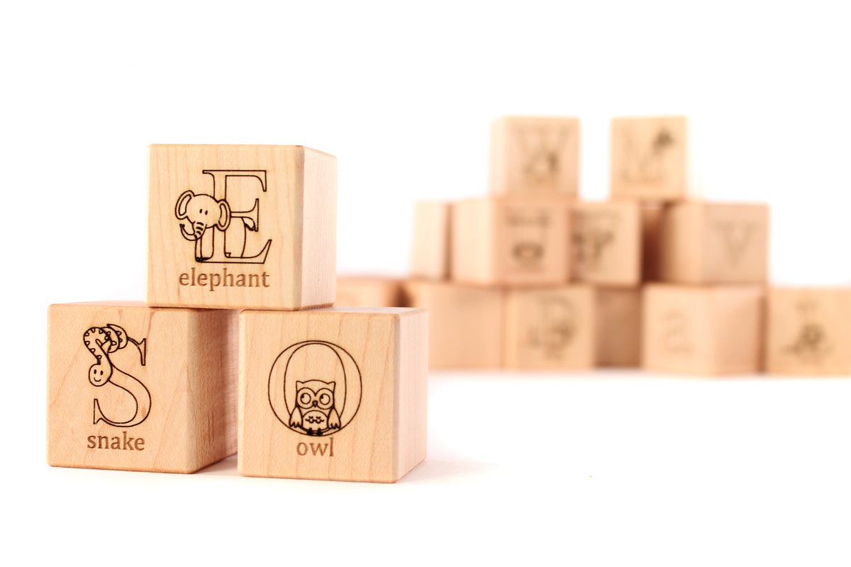 unique handmade wooden alphabet blocks