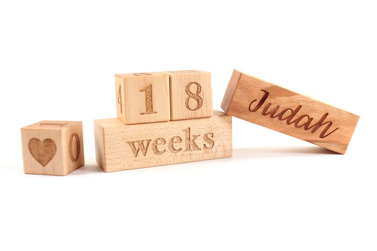 personalized baby blocks for days weeks months photography milestones