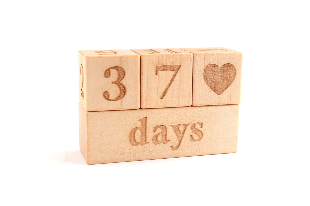 wooden baby blocks for monthly photos, newborn photo props