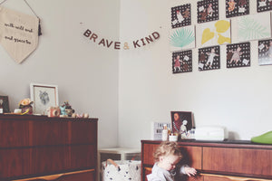 Be Brave and Be Kind wooden wall decor