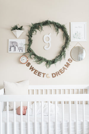 Sweet Dreams decorative wooden wall bunting, unique nursery decor