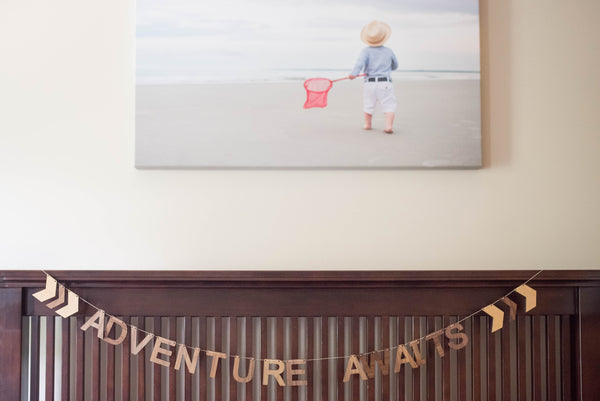 Adventure Awaits Wooden Wall Hanging Bunting Smiling Tree