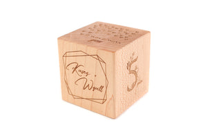 fifth wedding anniversary block gift