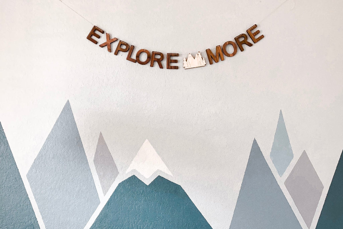 Explore More wall banner decor bunting for childs bedroom or nursery