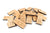 natural wooden animal domino game