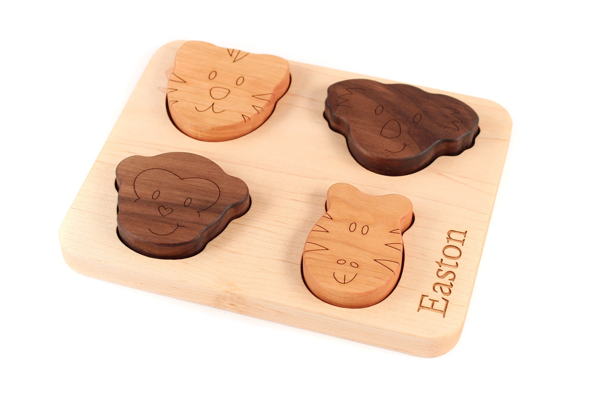 animal wooden board puzzle handmade baby toy Smiling Tree
