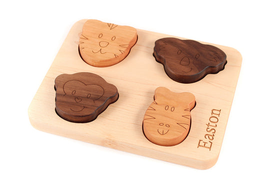 animal wooden toy puzzle