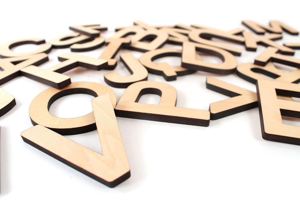 moveable wood alphabet letters