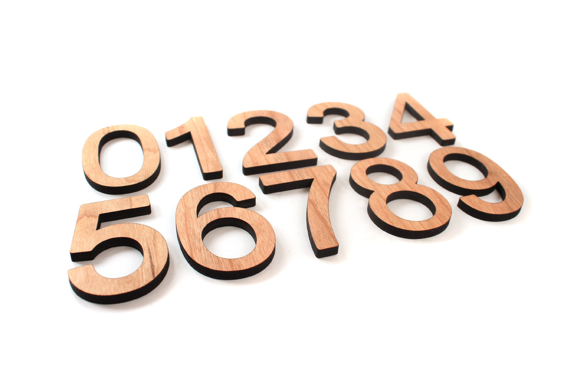 Montessori wood numbers set