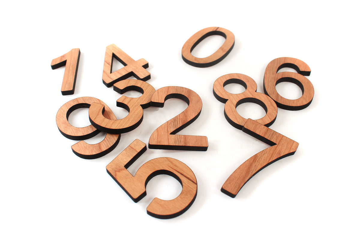 handmade wooden numbers