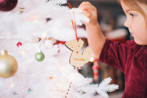 Handmade personalized Christmas ornaments from Smiling Tree Toys
