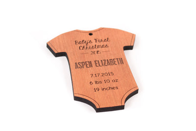 personalized baby's first Christmas onesie ornament