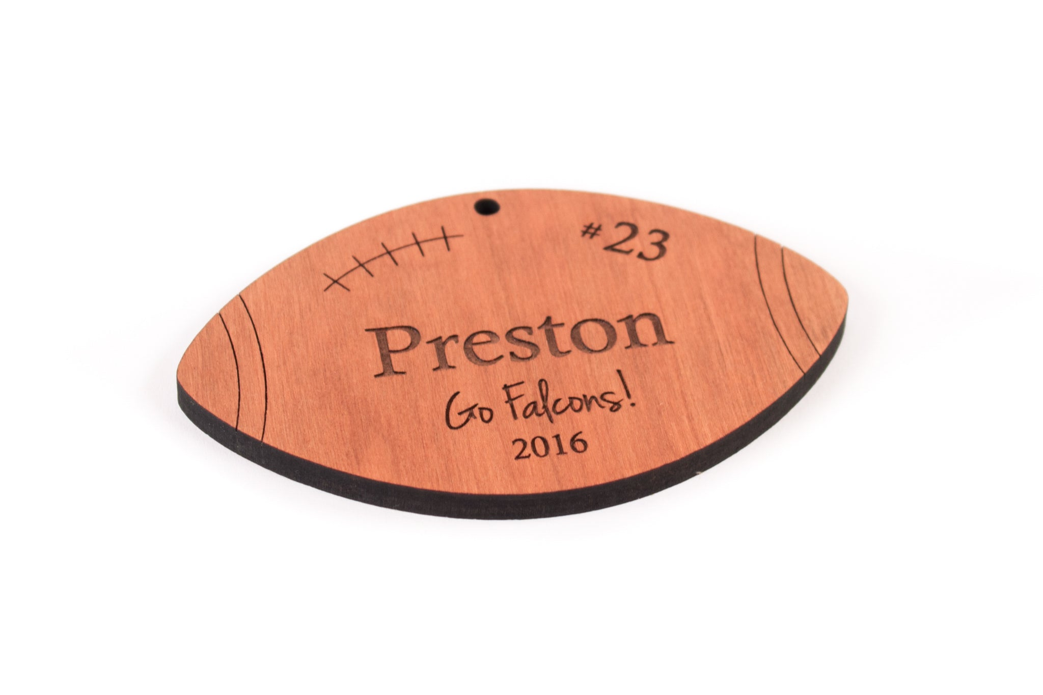 personalized football sports team ornament  Smiling Tree