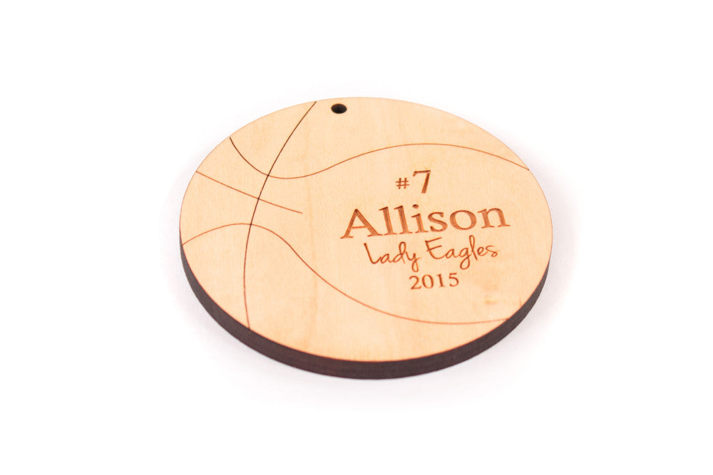 personalized basketball team player ornament