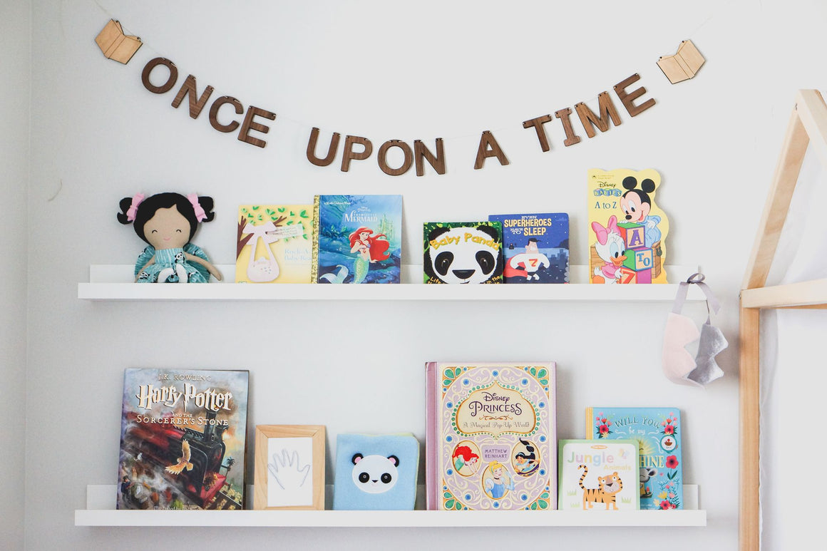 Once Upon A Time wall decor reading nook sign
