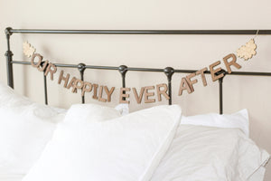 Our Happily Every After sign - wooden wall decor by Smiling Tree Toys