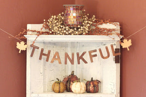thankful fall thanksgiving wall bunting decor