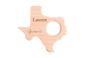 personalized-wooden-state-baby-teething-toy