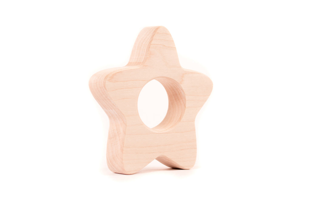 handmade star baby wooden toy by Smiling Tree