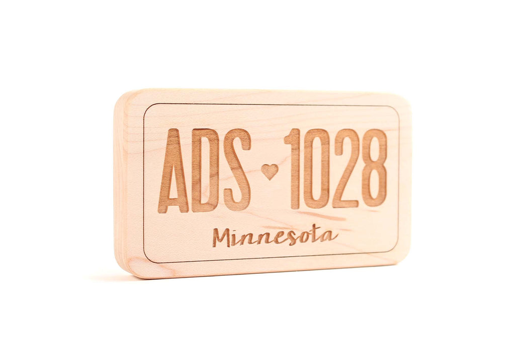 wooden toy license plate natural teether for baby shower gift