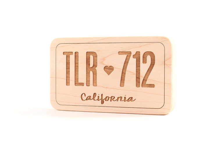 mini personalized toy license plate wooden toy
