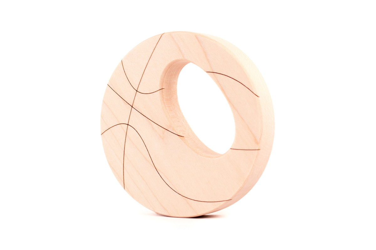 handmade basketball sports wooden baby toy by Smiling Tree