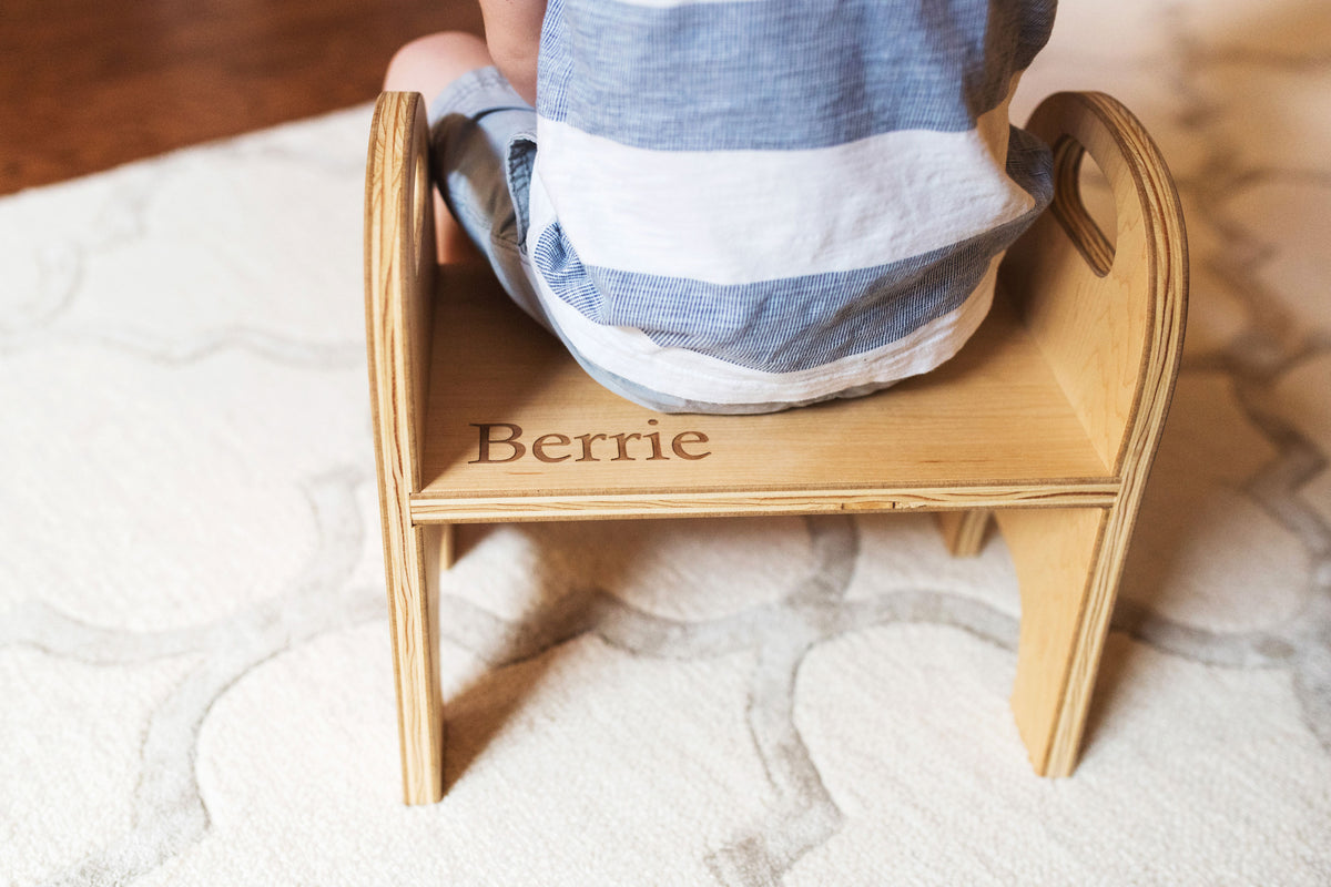 Kid's wooden furniture children's step stool