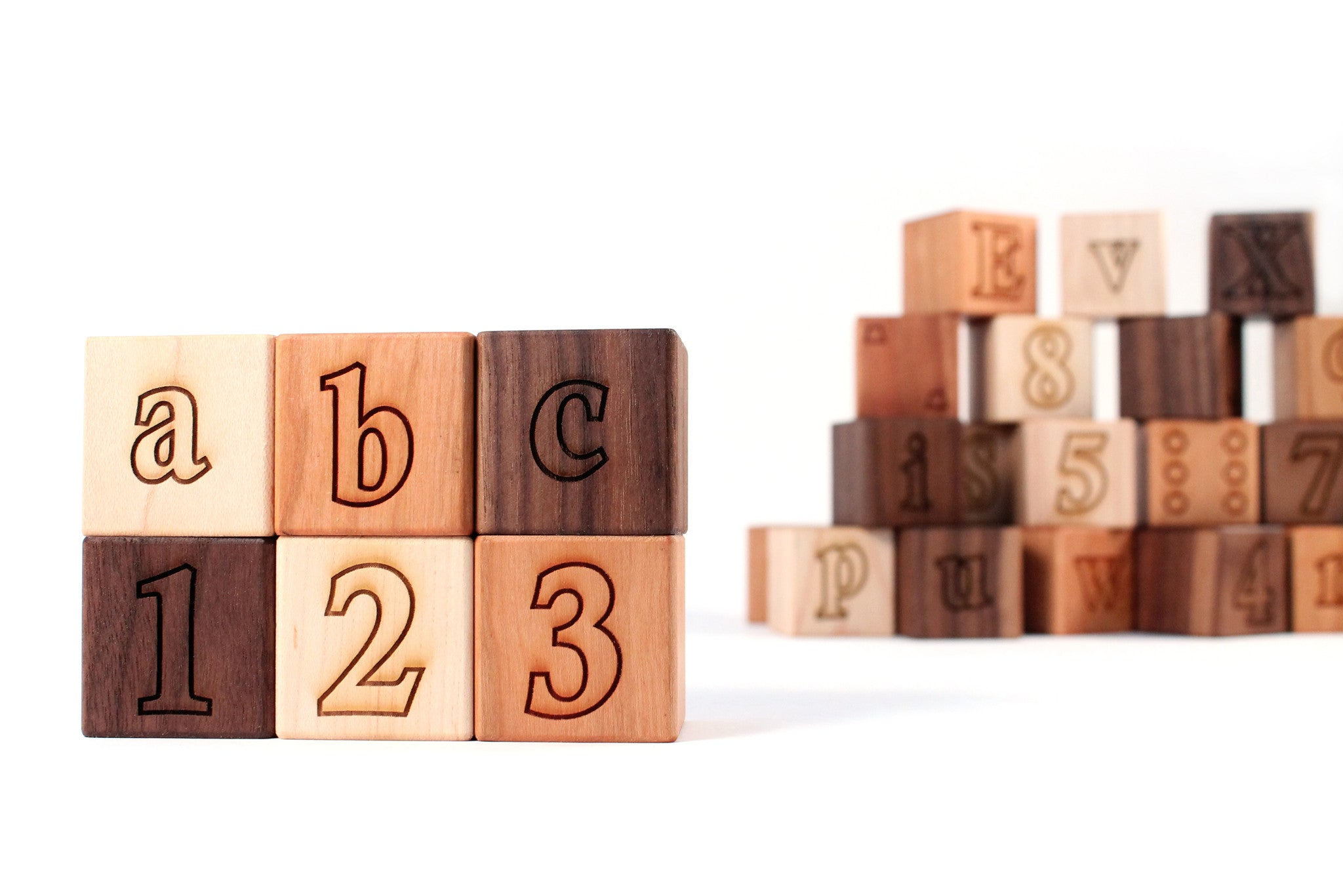 alphabet letter number wooden block set handmade eco friendly toys smiling treejpgv1410913108