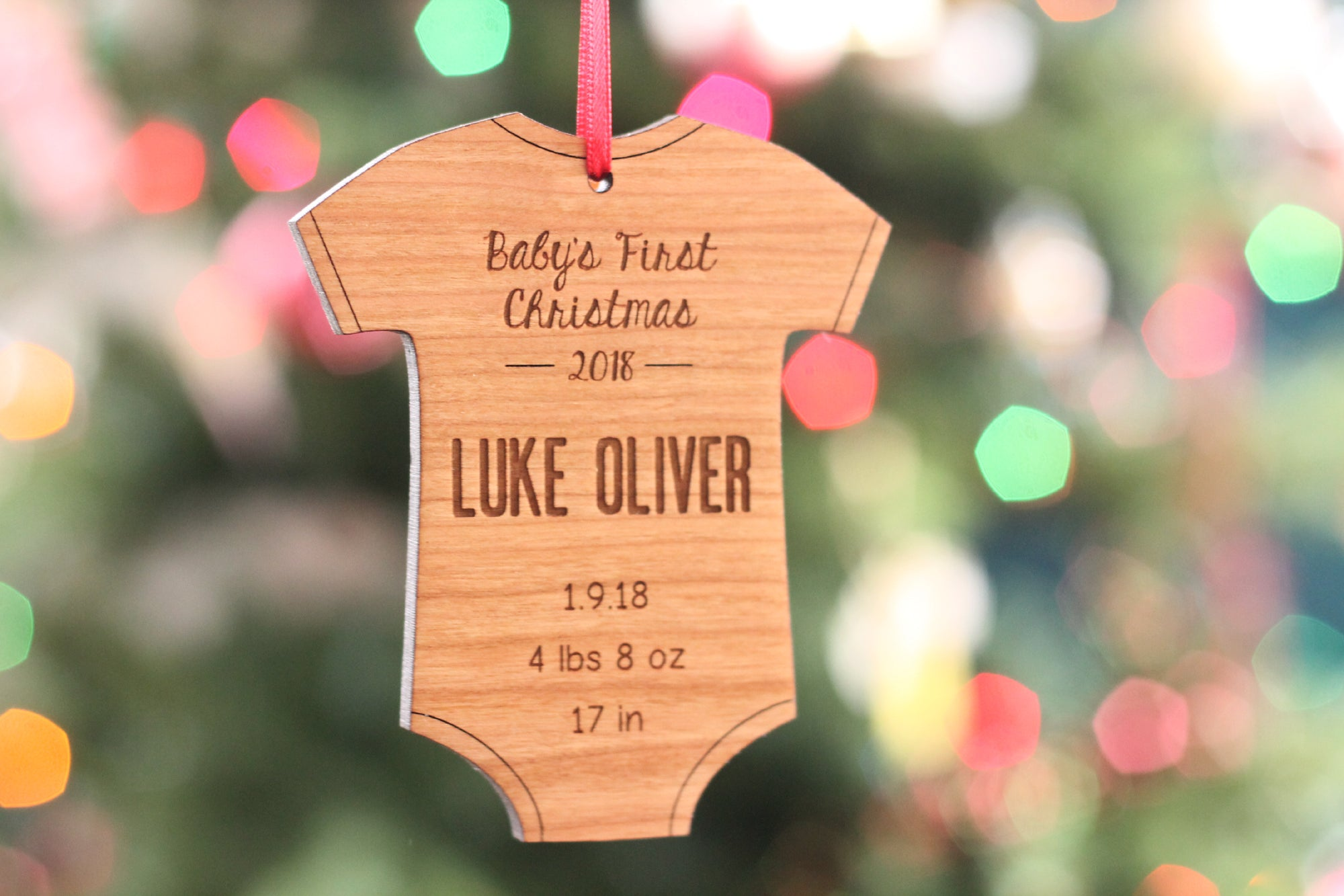 gift for baby Personalized  ornament for Baby/'s first Christmas